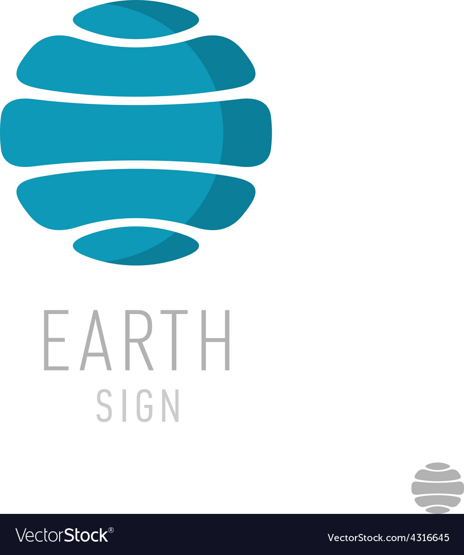 Earth logo template Globe sign