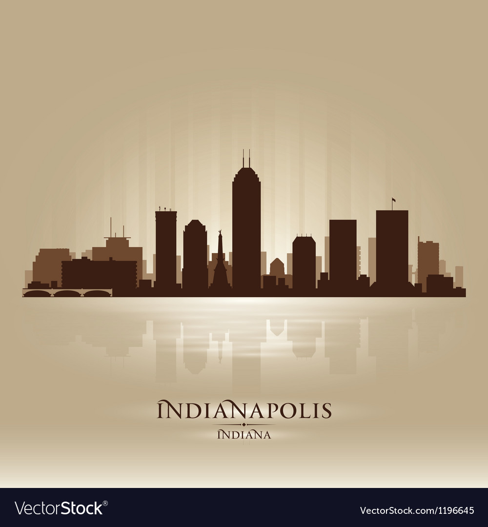 indianapolis indiana skyline city silhouette vector image