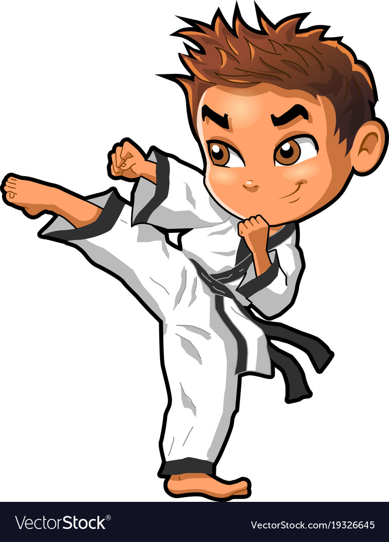 karate martial arts tae kwon do dojo clipart vector image rh vectorstock com martial arts clipart images martial arts clipart png