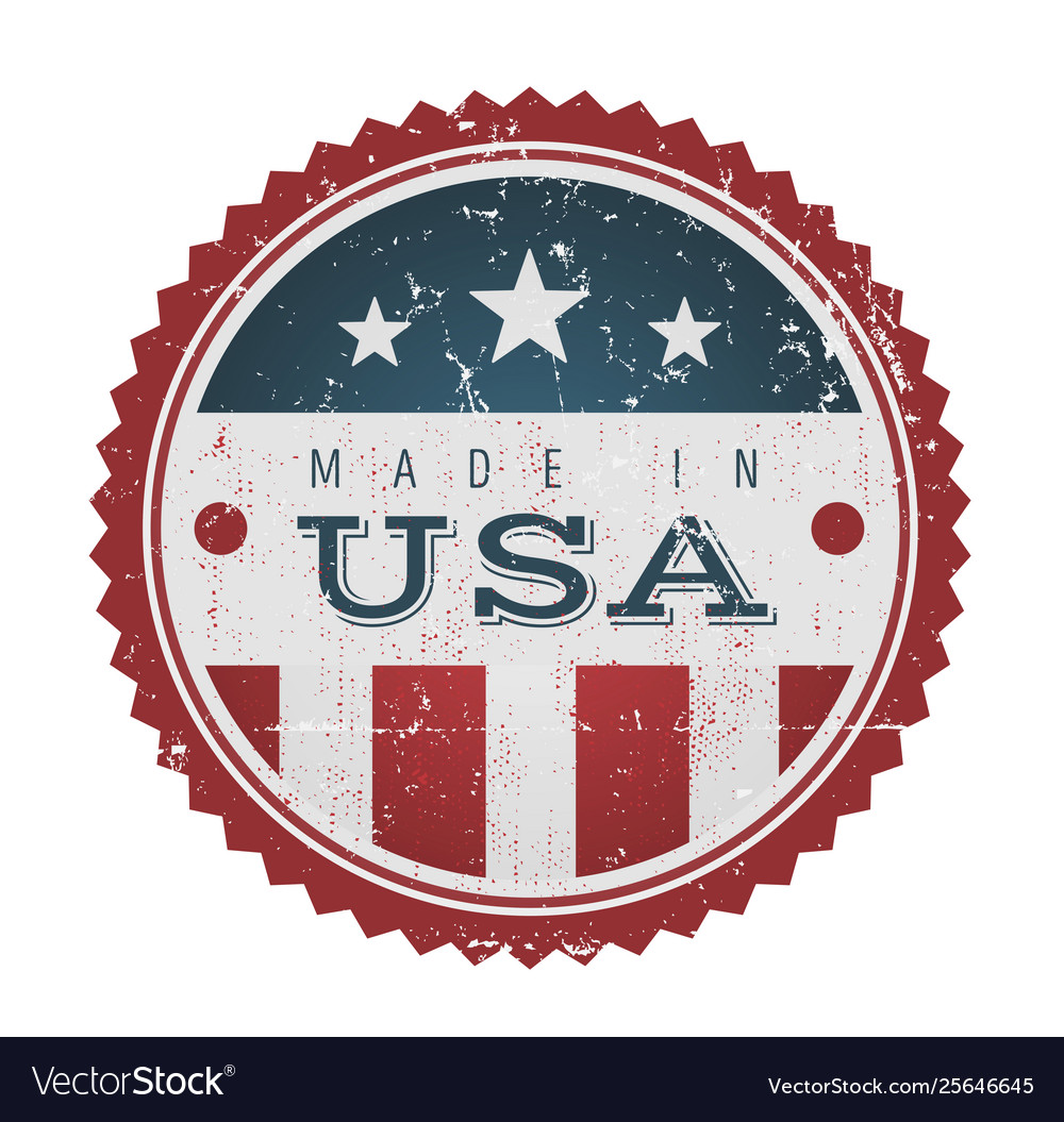 Made in usa vintage badge seal