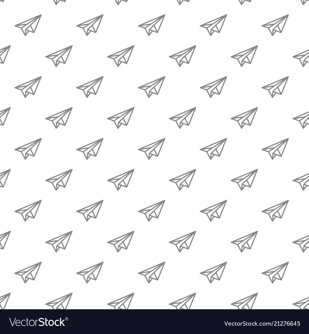 Simple paper airplane seamless pattern with