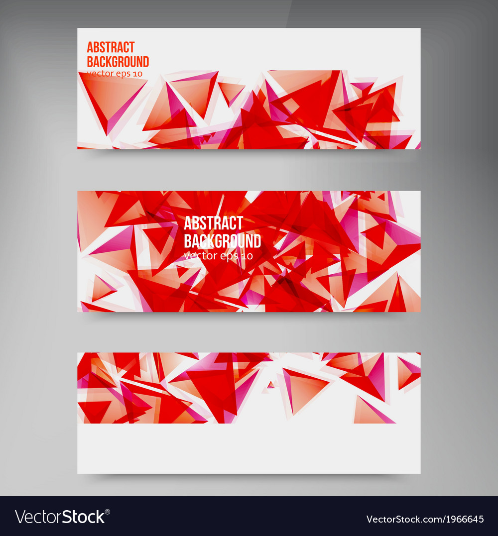 Squares Abstract background red