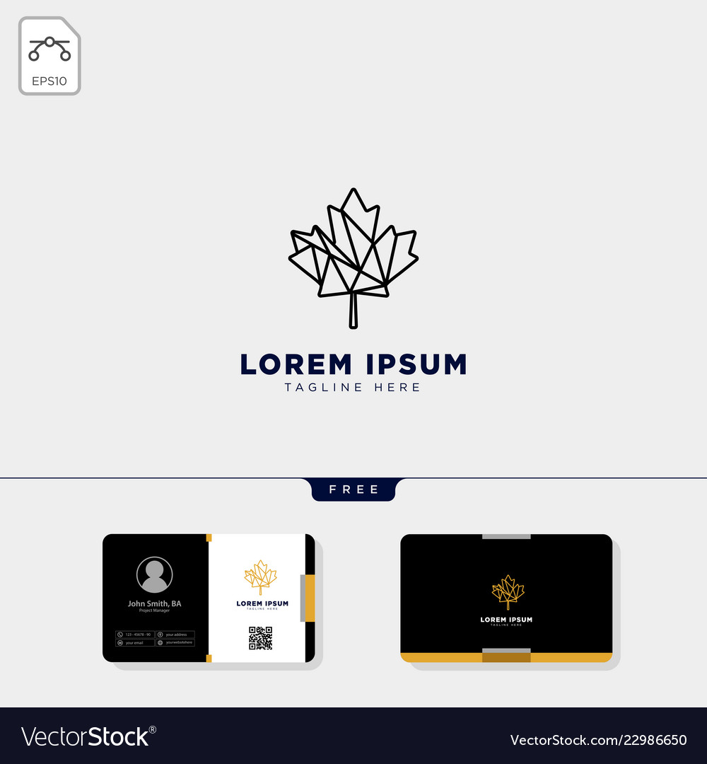 Cannabis logo template and free business card