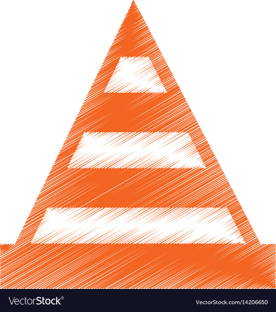 Construction cone isolated icon