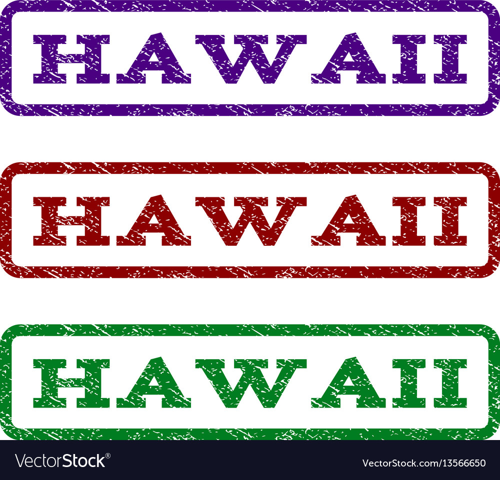 Hawaii Watermark Stamp Vector Image