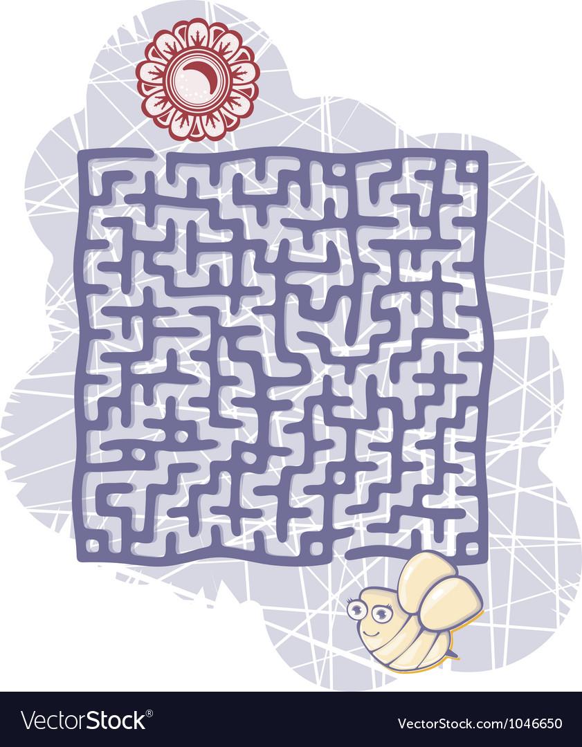 Mazes bee vector image