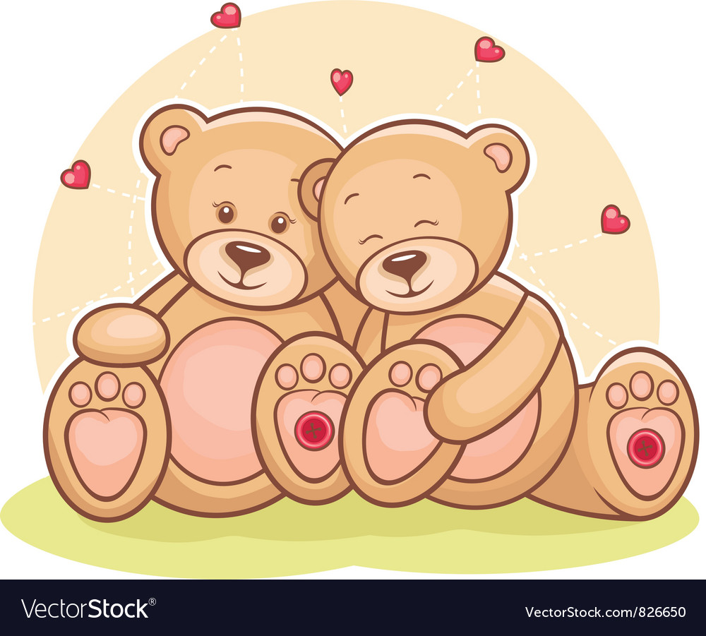 Teddy bear love royalty free vector image vectorstock teddy bear love vector image altavistaventures Images