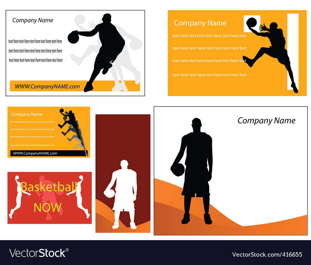 Basketball business cards royalty free vector image basketball business cards vector image colourmoves