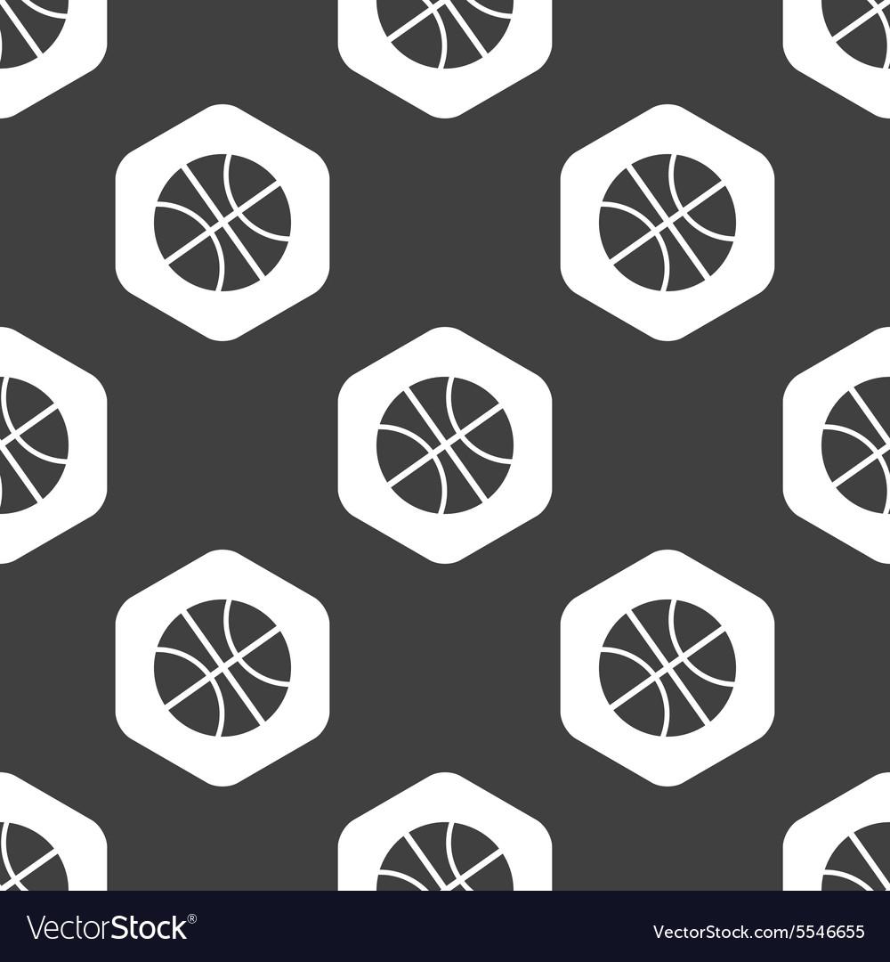 Black hexagon basketball pattern