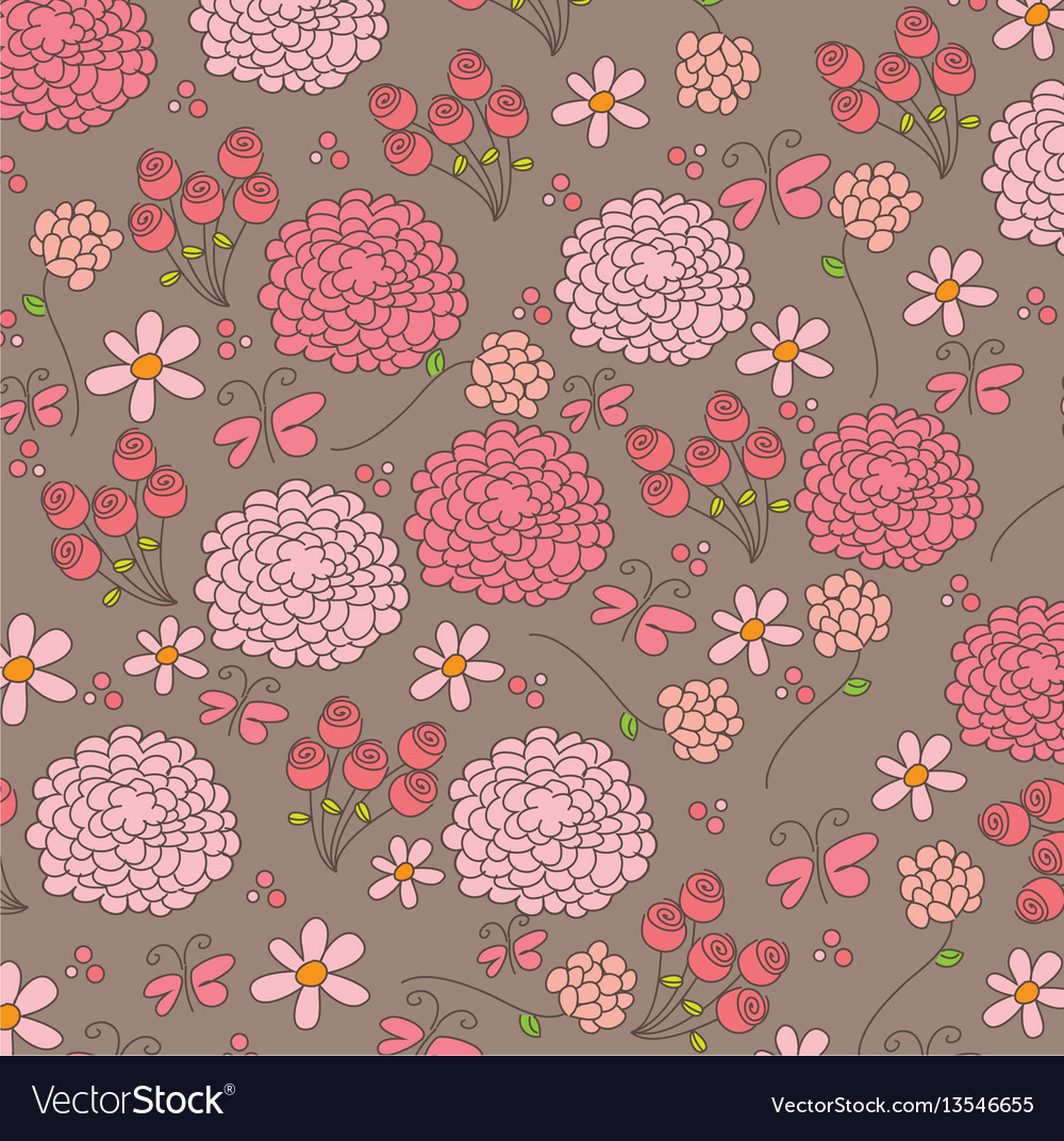Colored flowers background icon vector image