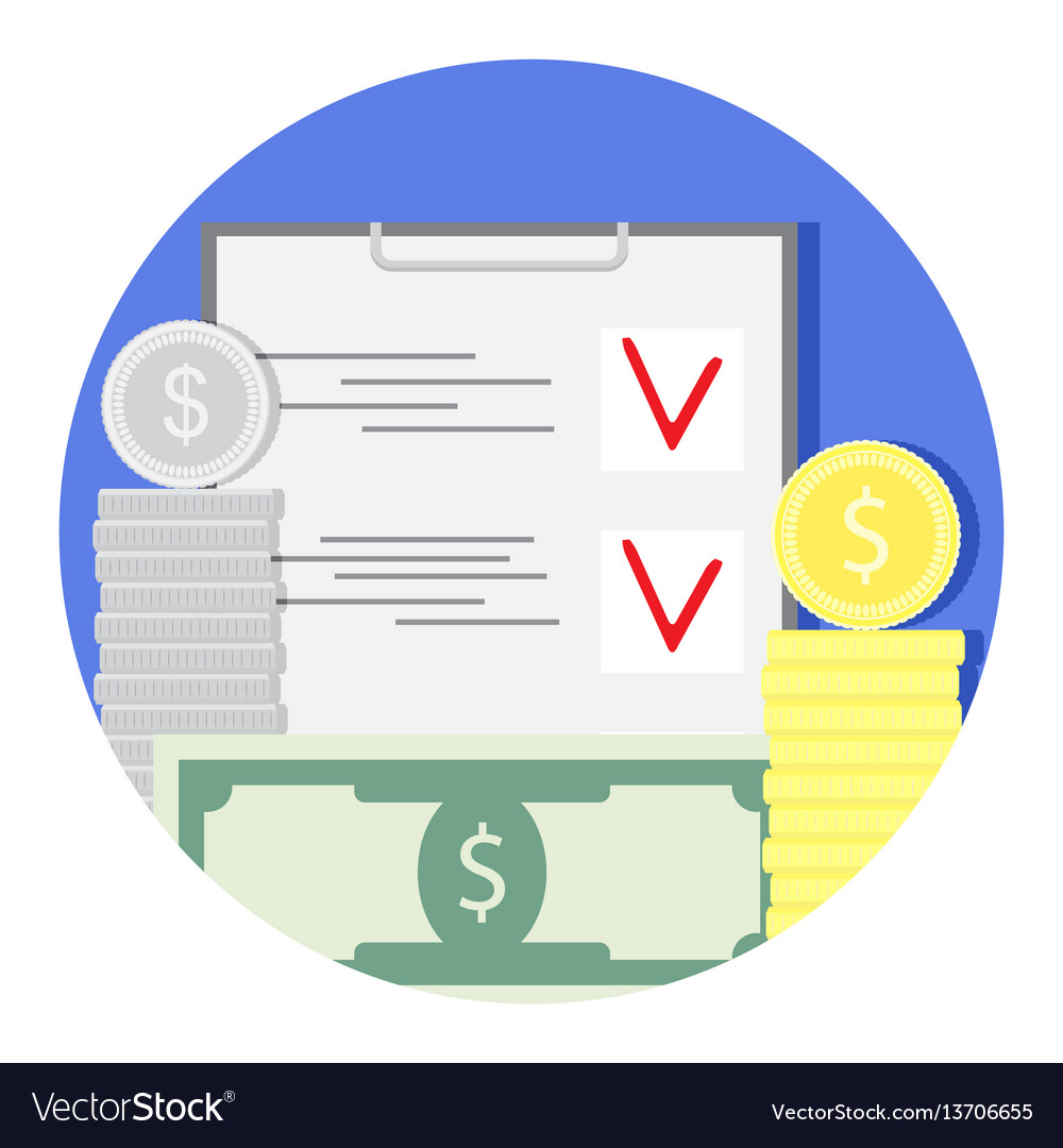 Finance audit and check icon