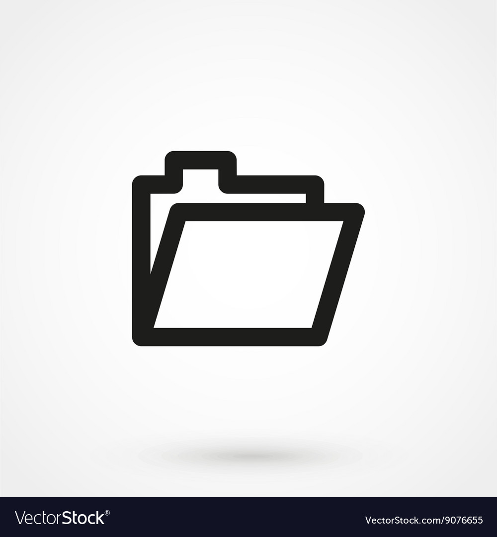 folder icon black and white. Beautiful And Folder Icon Black On White Background Vector Image On Icon Black And White T