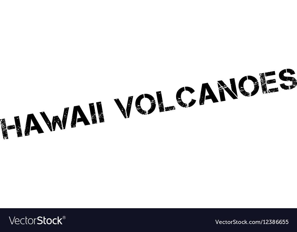 Hawaii Volcanoes rubber stamp