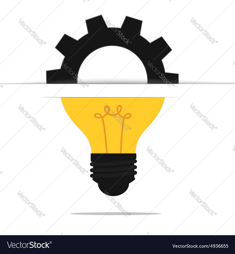 Light bulb gear idea concept vector image