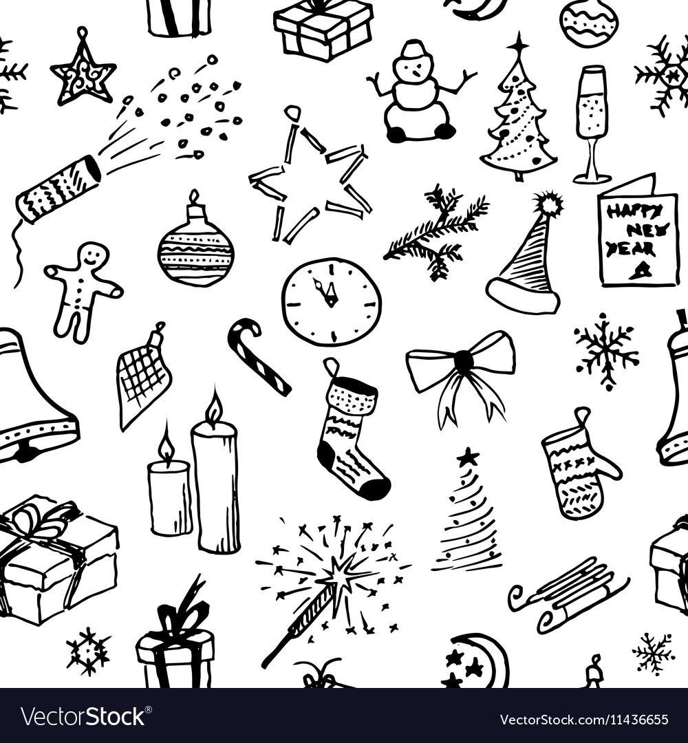 Merry Christmas Seamless pattern Holiday