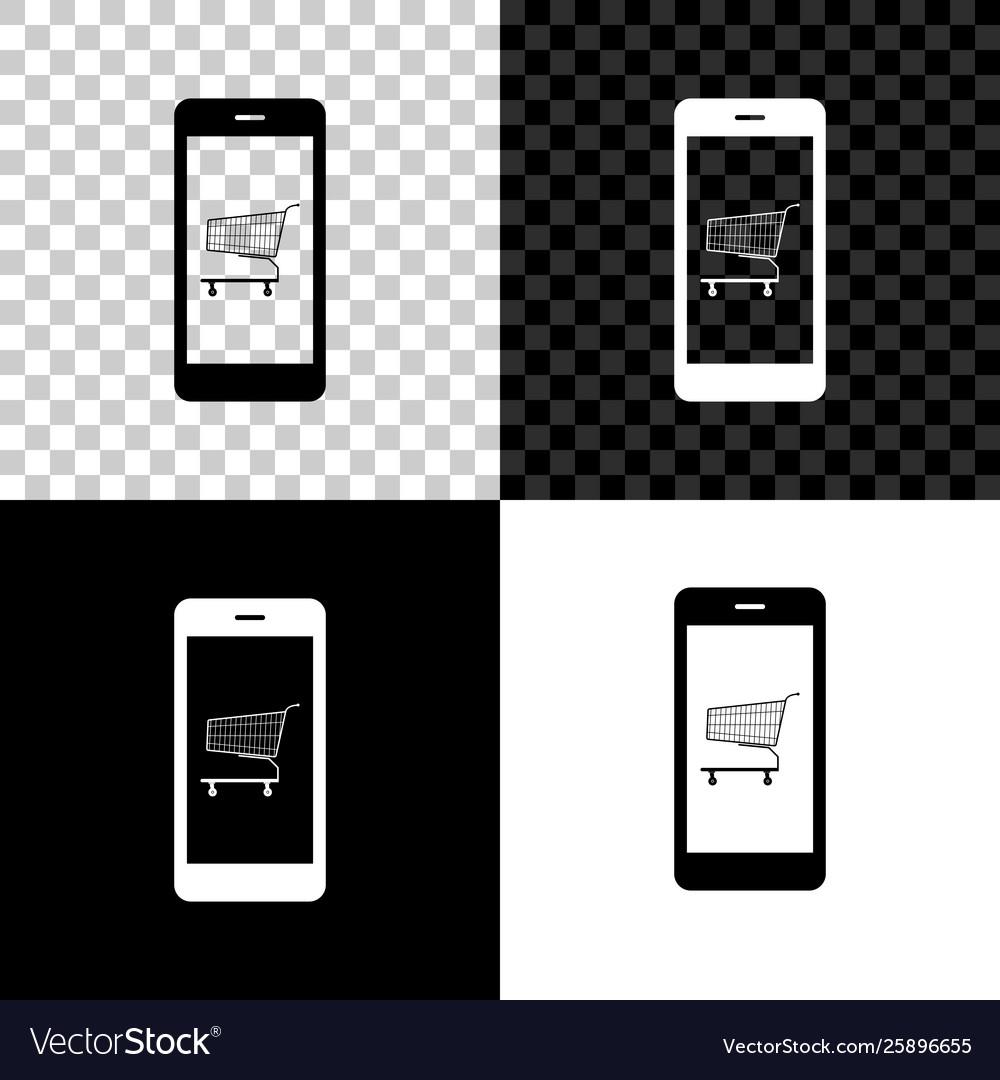 Online shopping concept shopping cart on screen