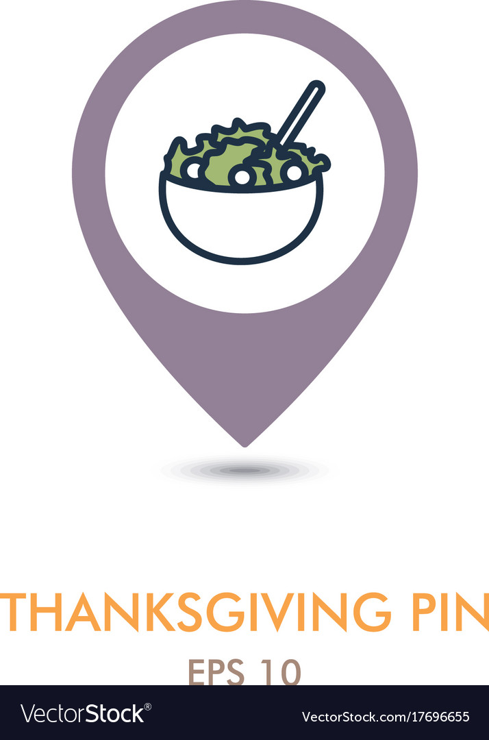 Salad bowl mapping pin icon harvest thanksgiving