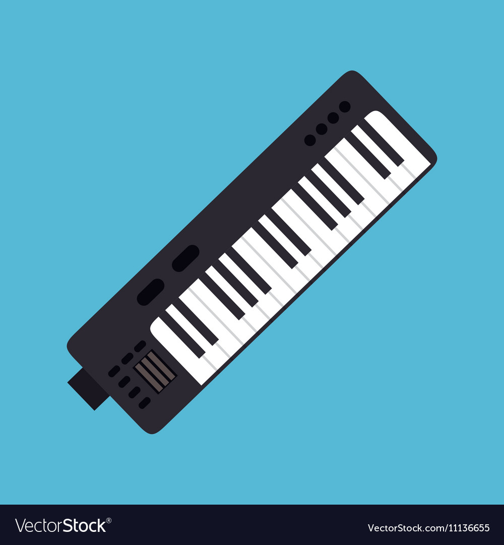 Synthesizer music instrument graphic icon vector image