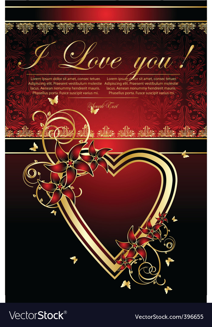 valentines greetings card royalty free vector image