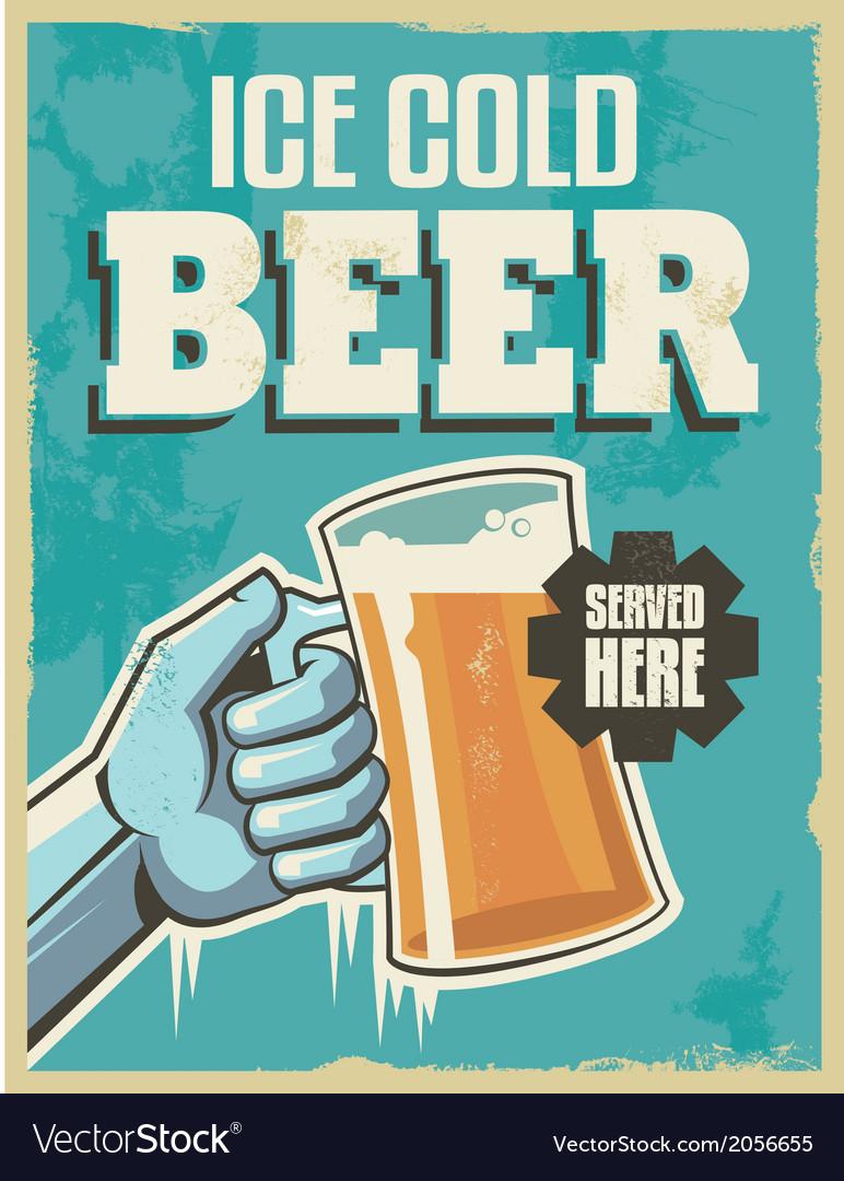 Vintage banner sign - retro beer poster