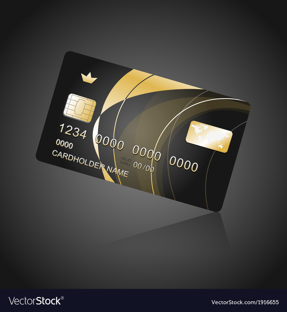 VIP Card black and gold vector image