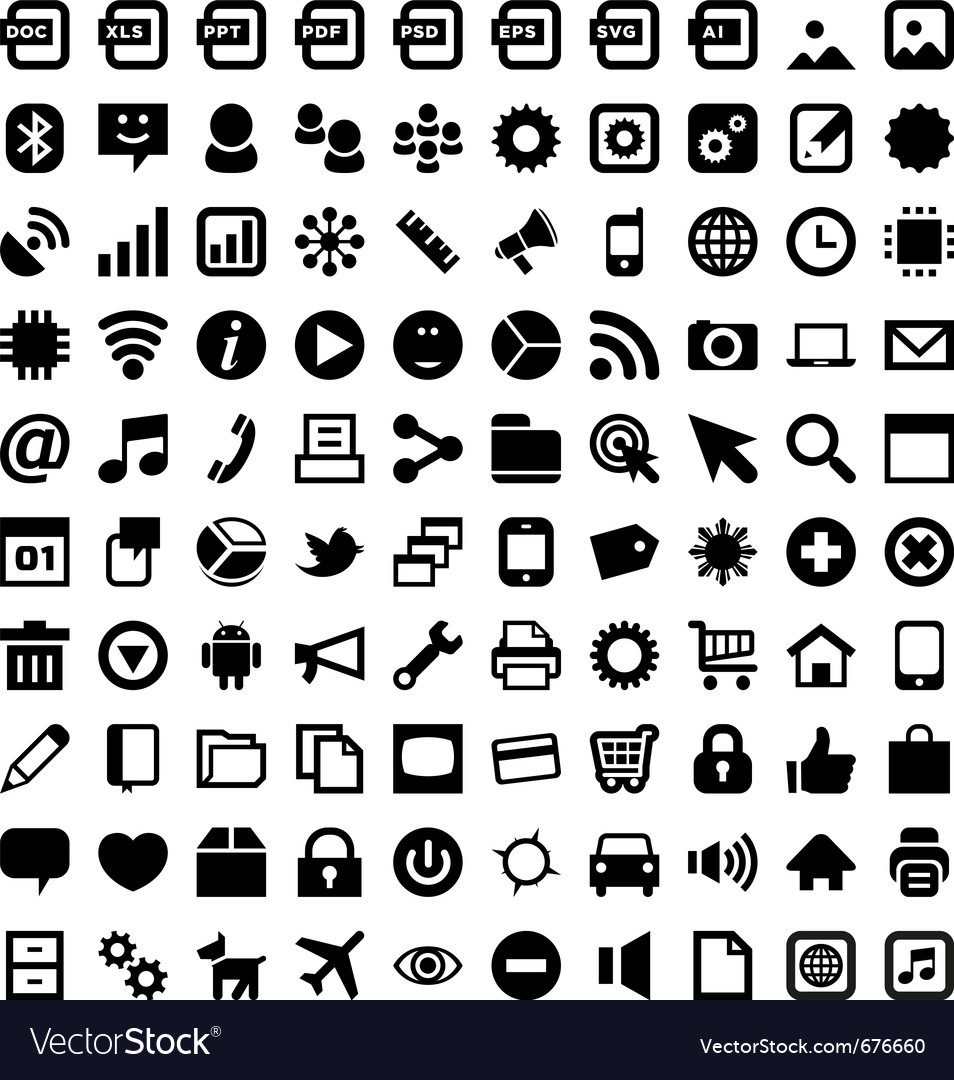 android icons royalty free vector image vectorstock