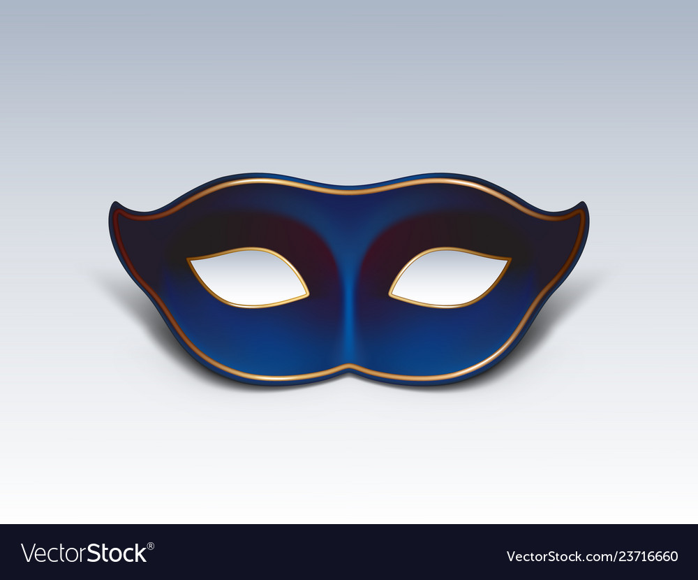 Blue face mask realistic