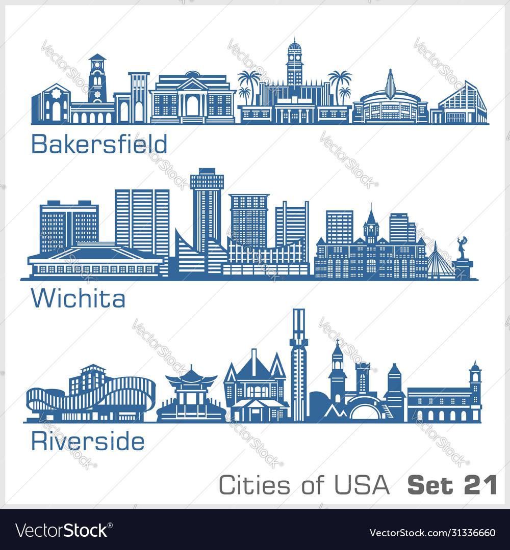 Cities usa - bakersfield wichita riverside