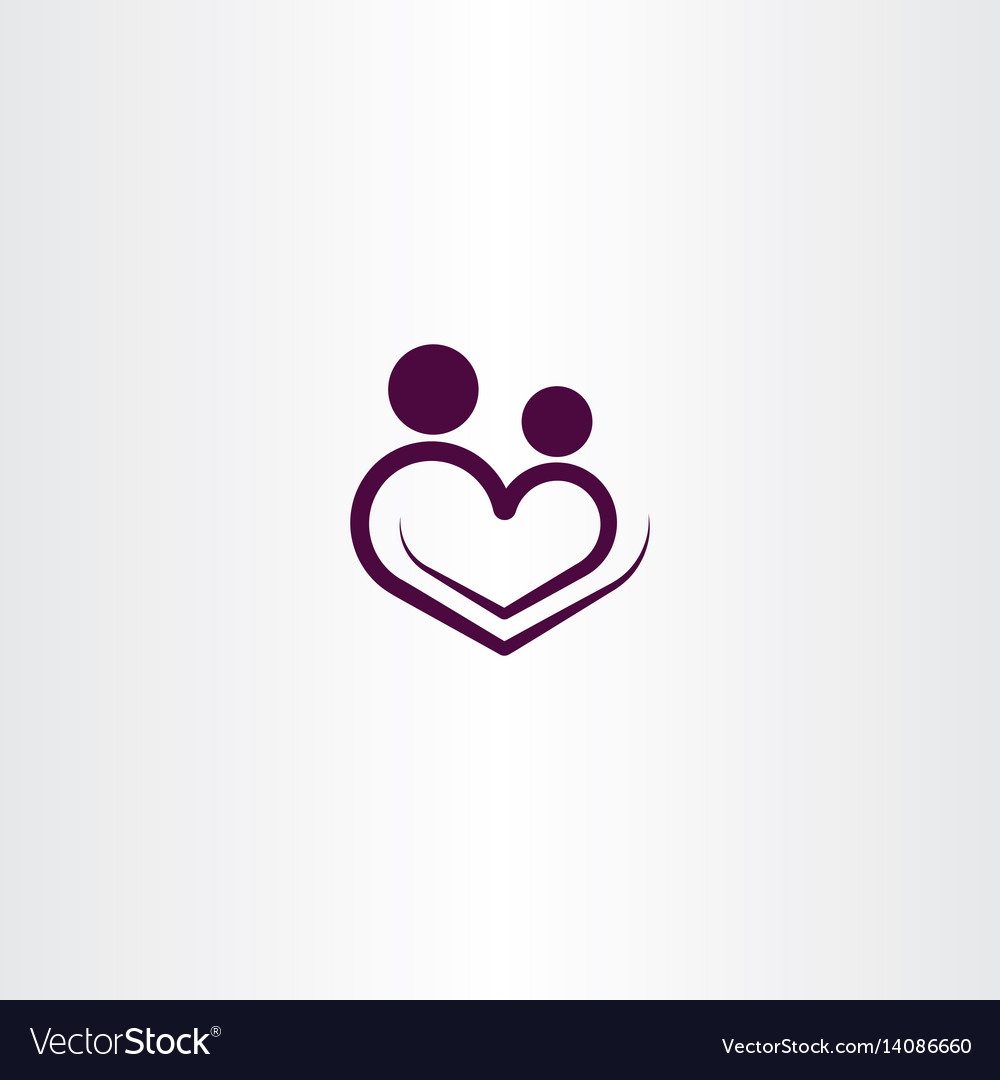 Heart love logo icon sign