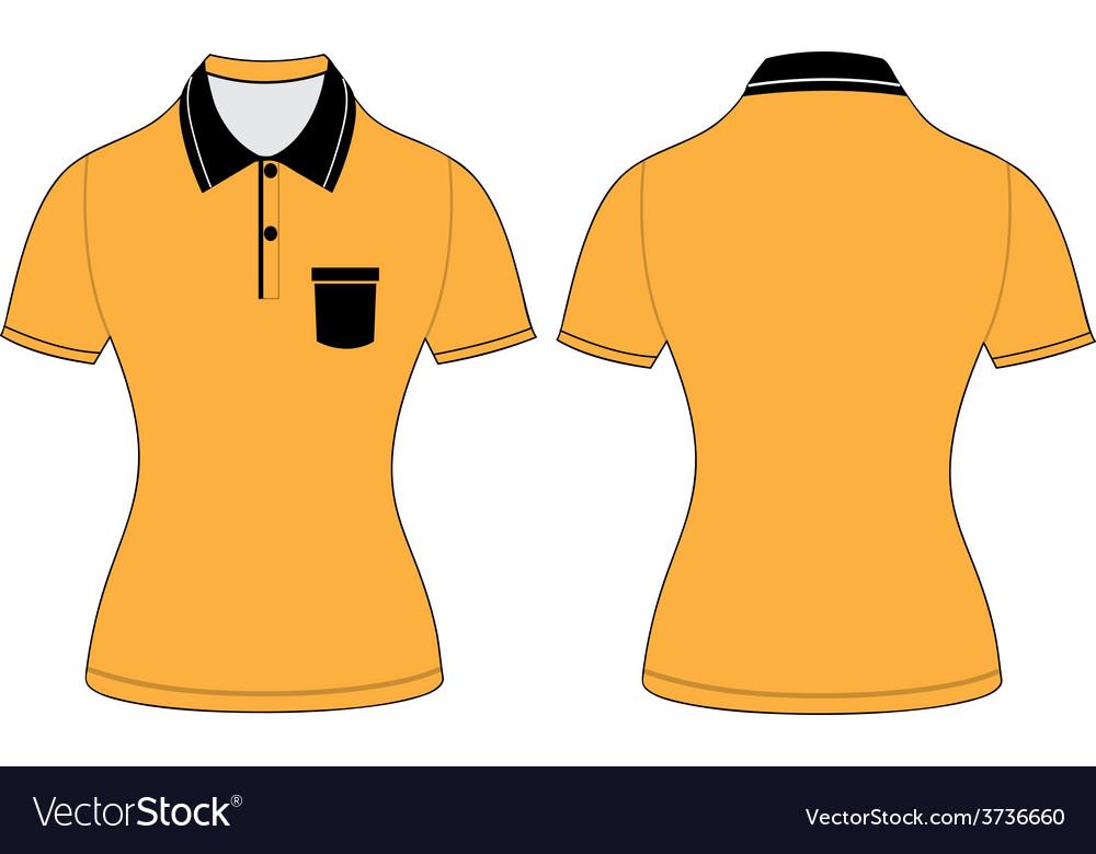 Polo woman shirt design templates
