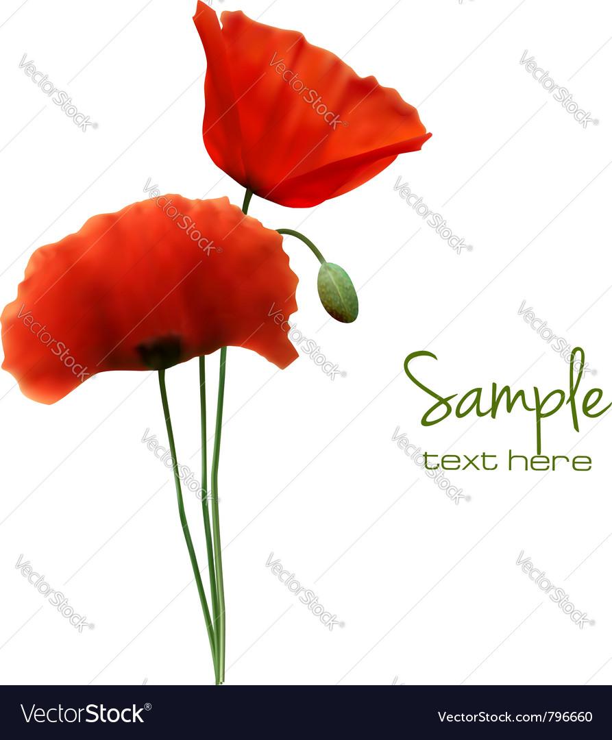 Red poppy card
