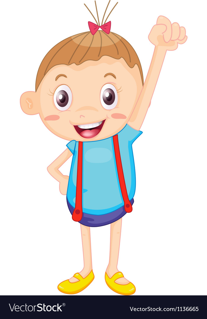 A kid vector image