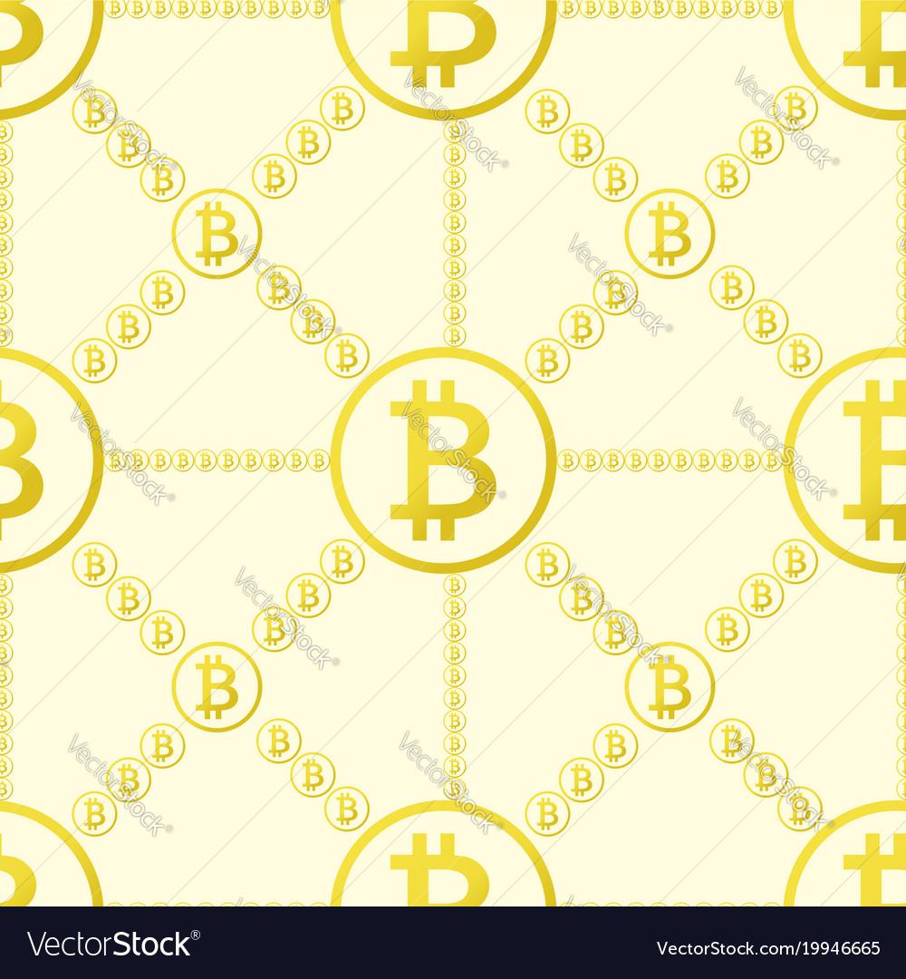 Bitcoin seamless pattern