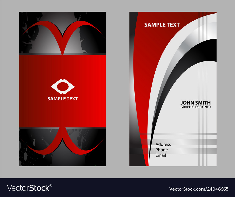 Business card template black background