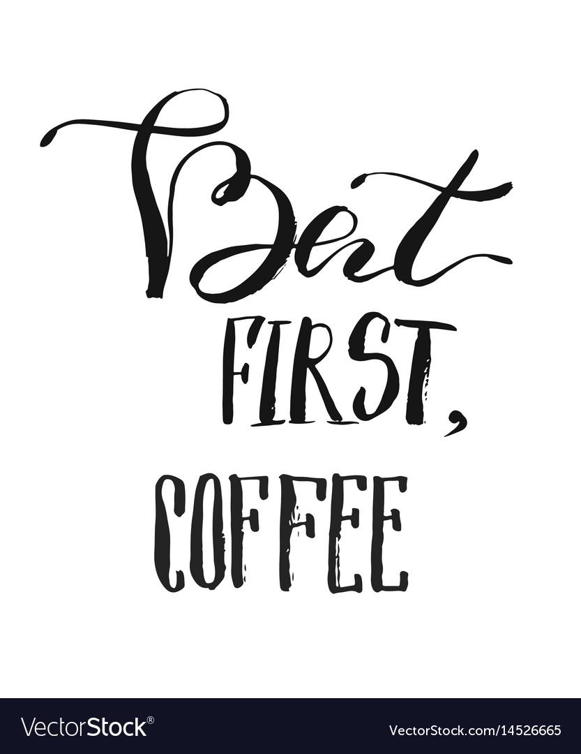 But first coffee postcard hand drawn breakfast