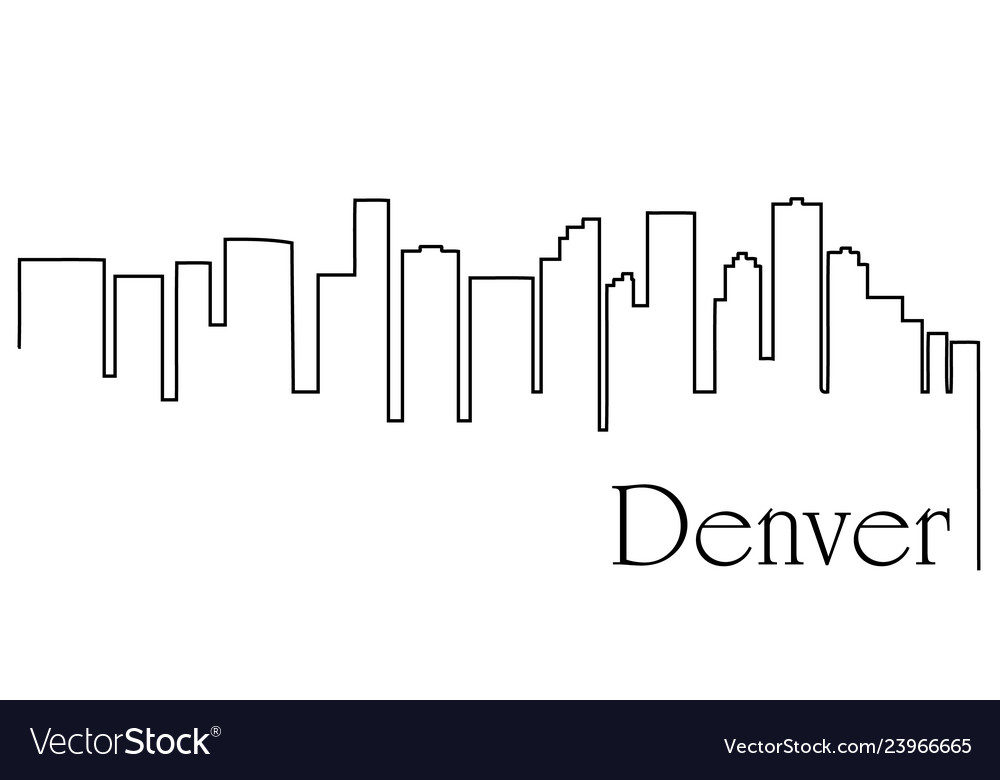 Denver city one line drawing