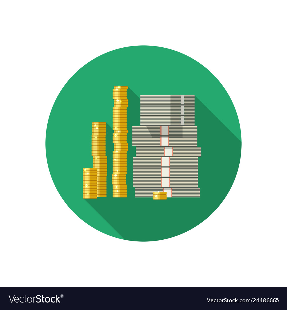 Icon of dollars and coins