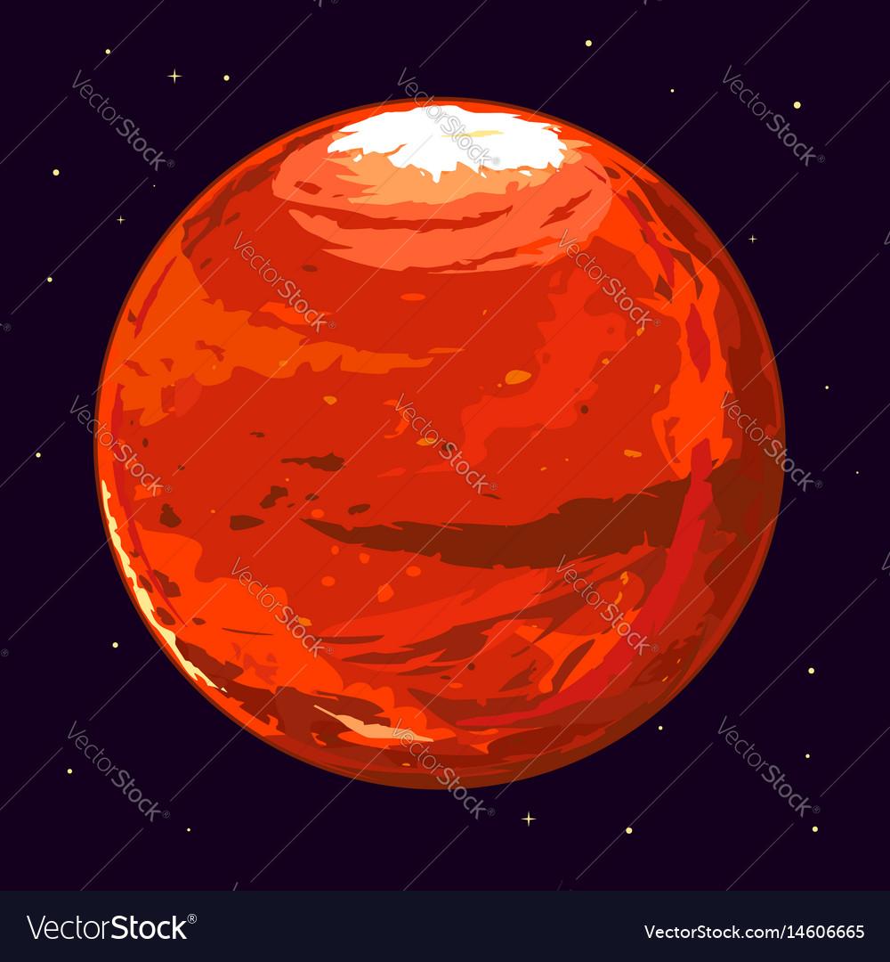 Planet mars Royalty Free Vector Image - VectorStock