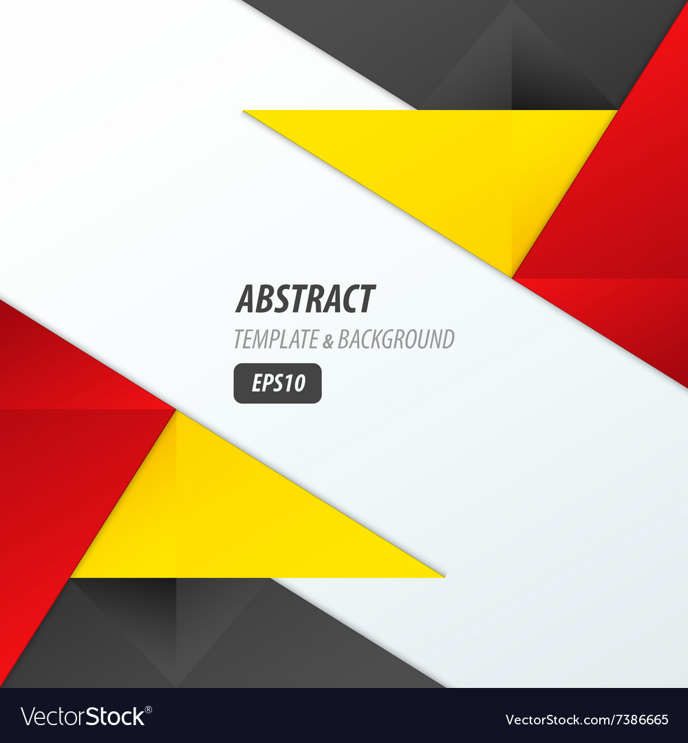 Polygons Design Template Yellow Black Red