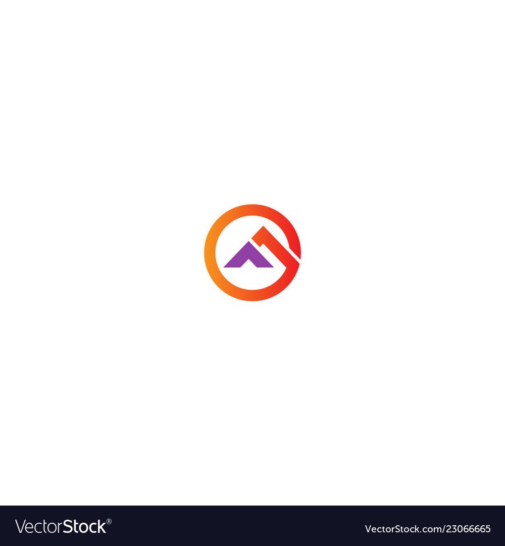 Round triangle shape logo