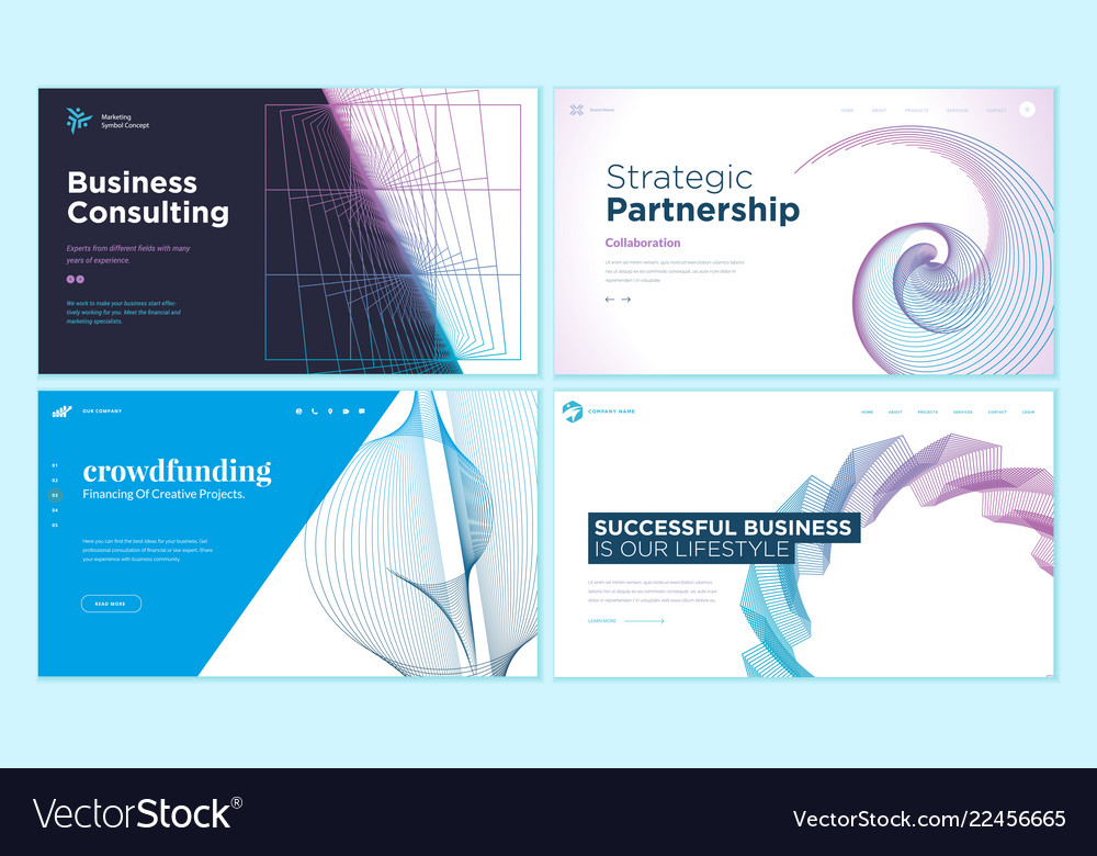 Web page design templates with abstract background