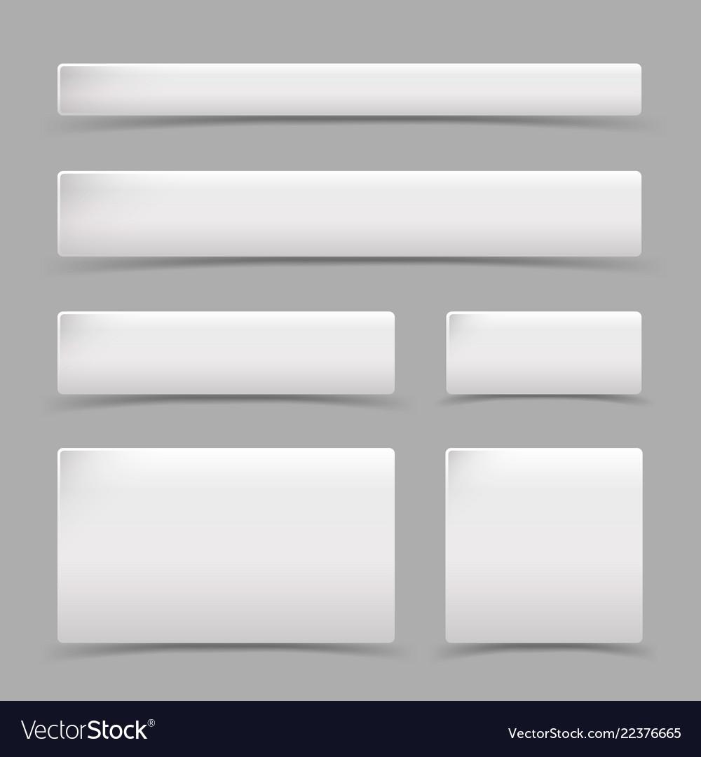 White square set shadow design element