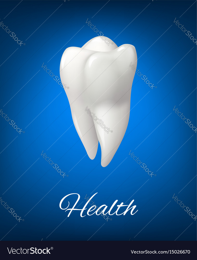3d white tooth for dental care design
