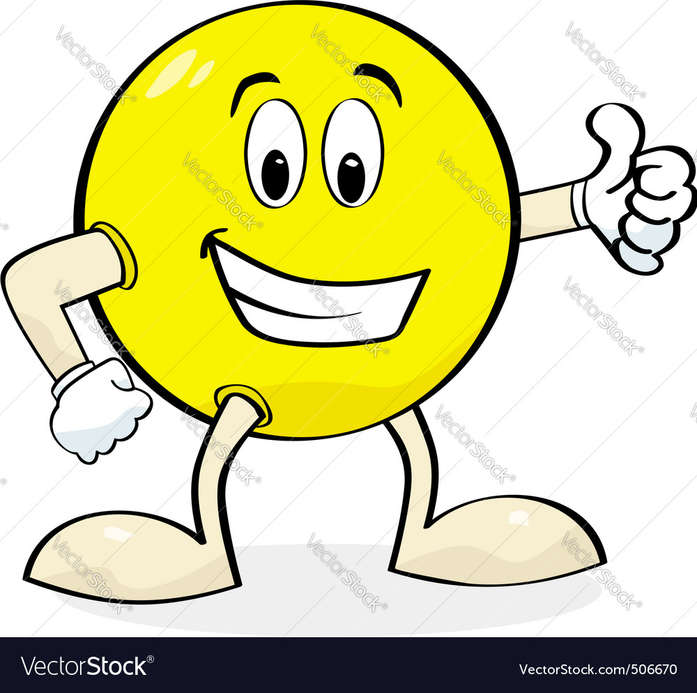 Cartoon giving thumbs up vector image