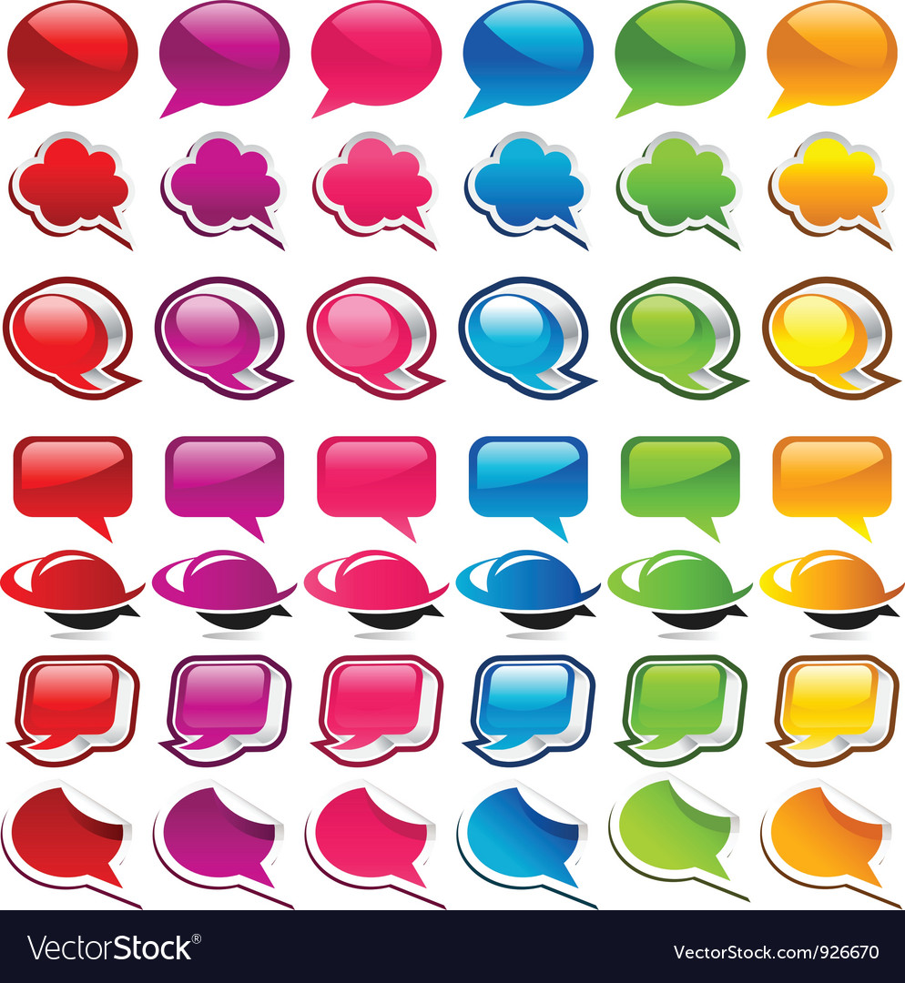 Colorful Speech Bubble Icons