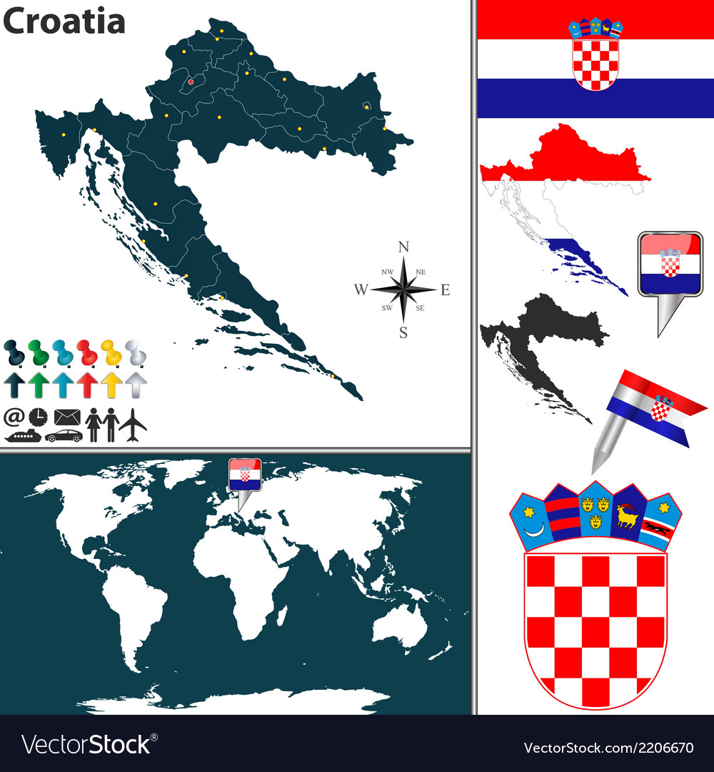Croatia map world