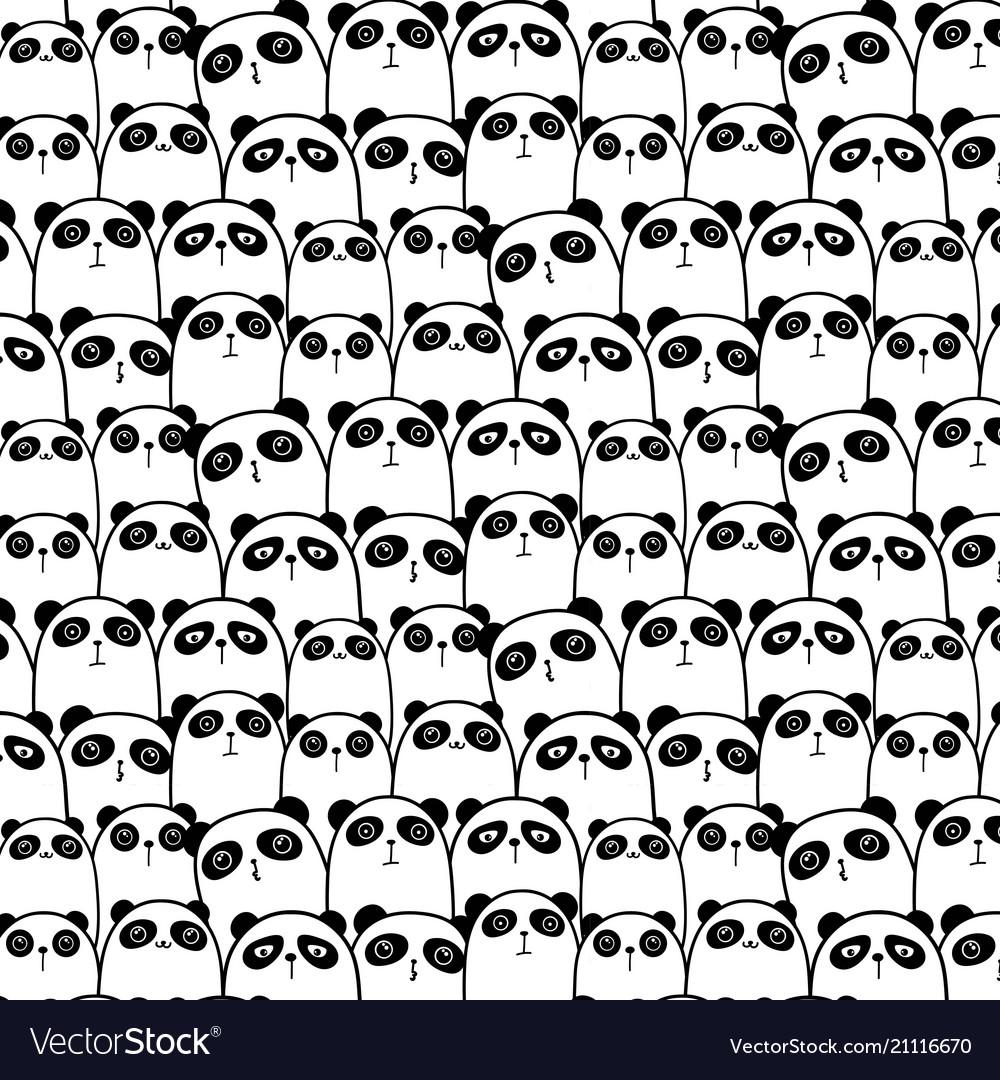 Cute panda pattern background
