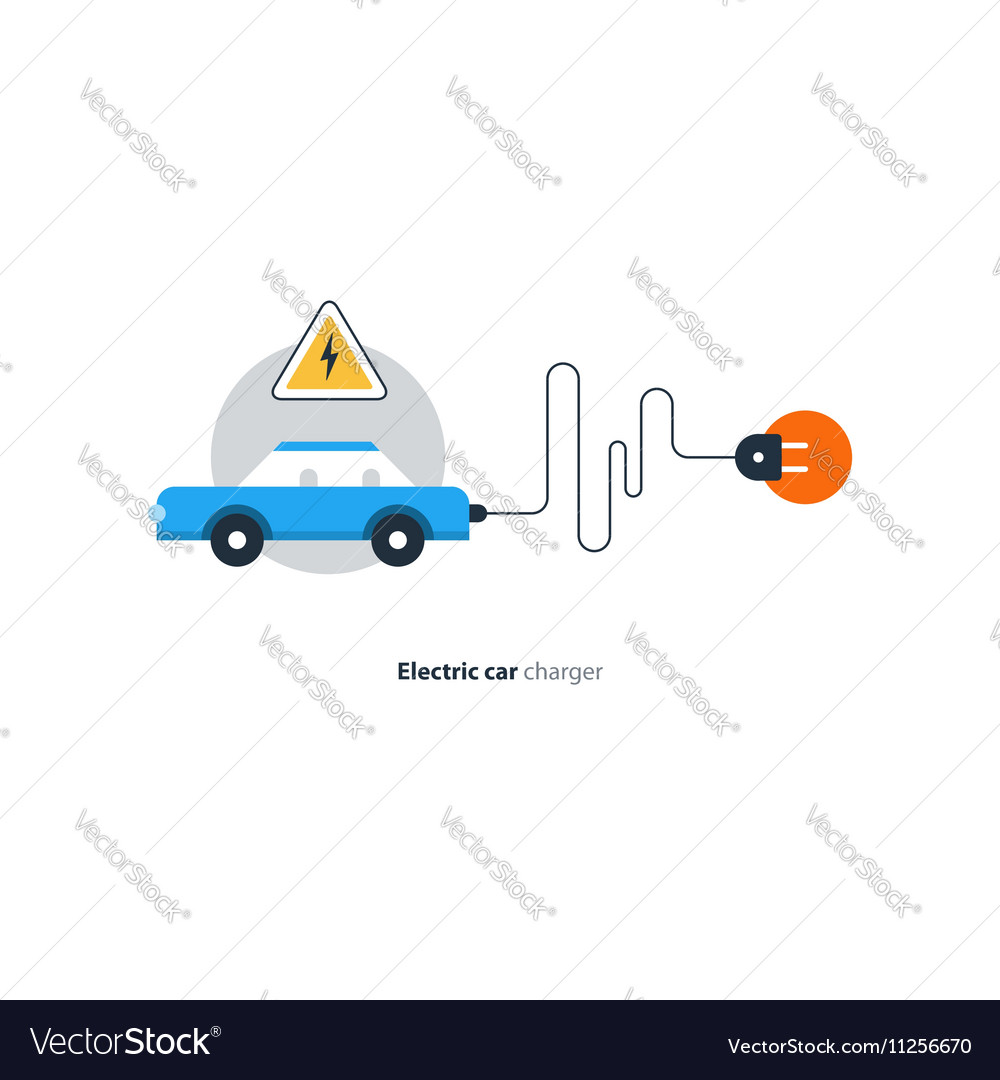 Electrical auto car charging station diagnostic vector image