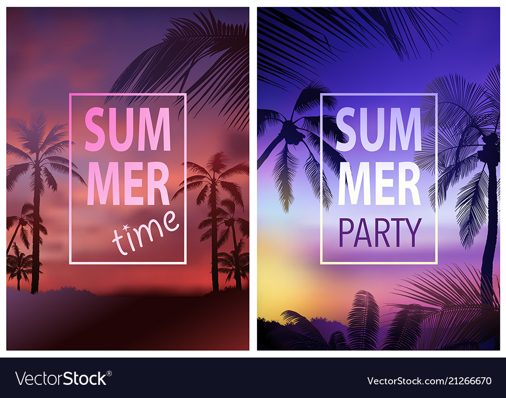 flyer template with tropical background royalty free vector