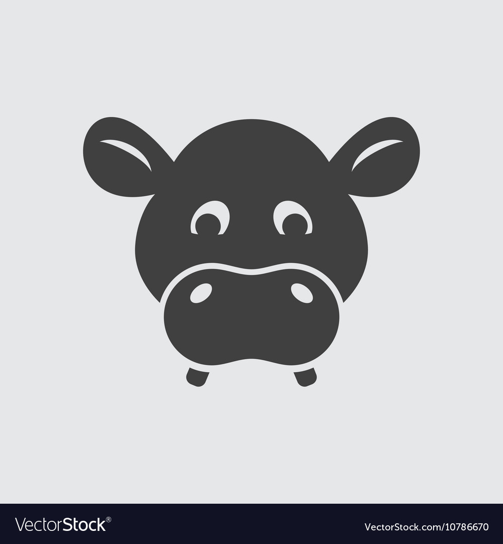 Hippo icon vector image
